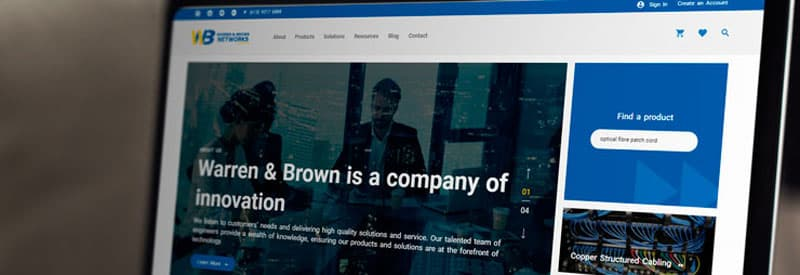 Warren & Brown Technologies launches new e-commerce website: wbnetworks.com.au